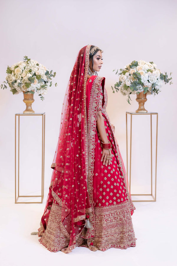 Red Traditional Bridal Lehenga