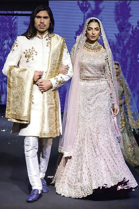 Mint Bride-groom lehenga and sherwani