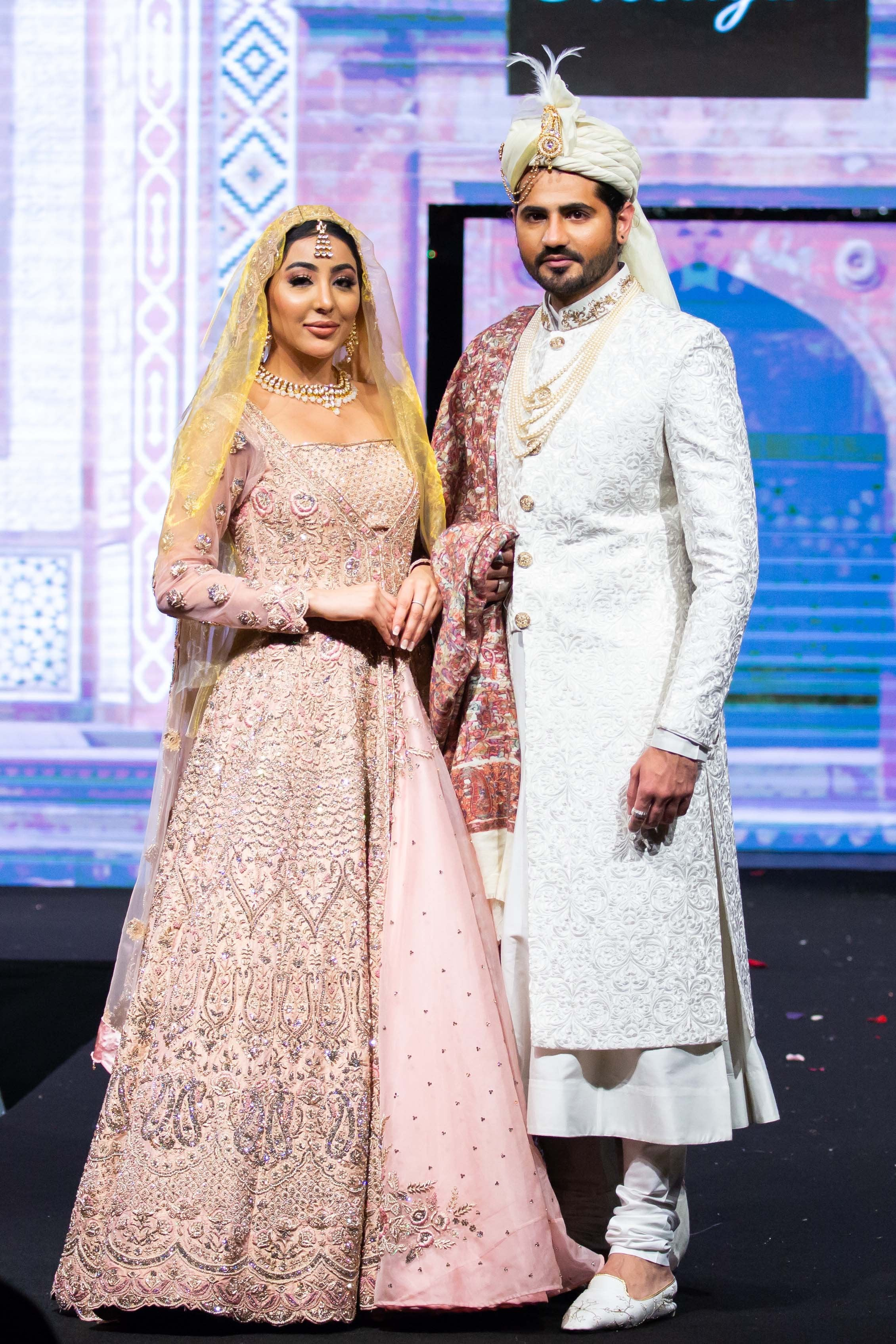 Blush Pink Bridal Jacket lehenga and Chogha Sherwani