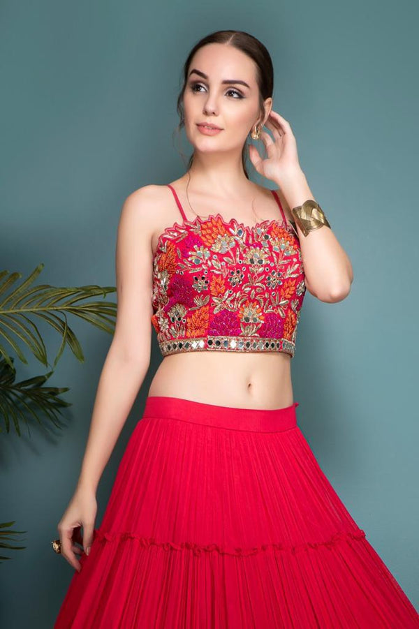 Hot Pink Lehenga and choli