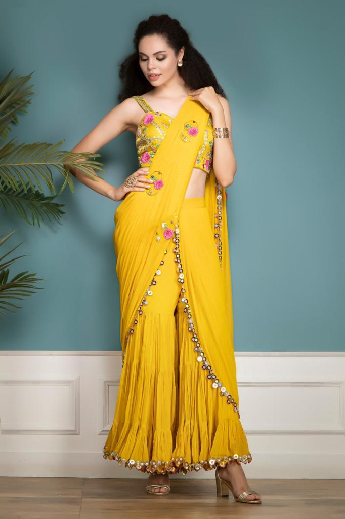 Gharara Saree with a Drape