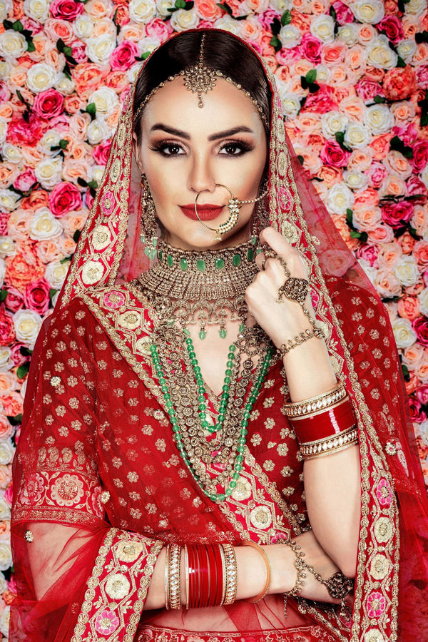 Traditional Red bridal Lehenga choli