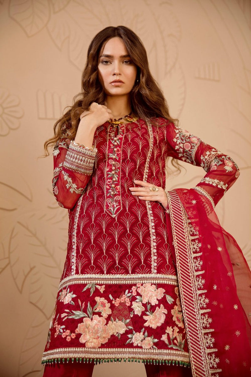 Chiffon Stitched Luxury Suit-1