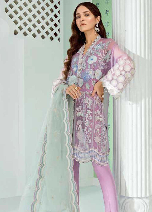 Chiffon Stitched Luxury Suit-2