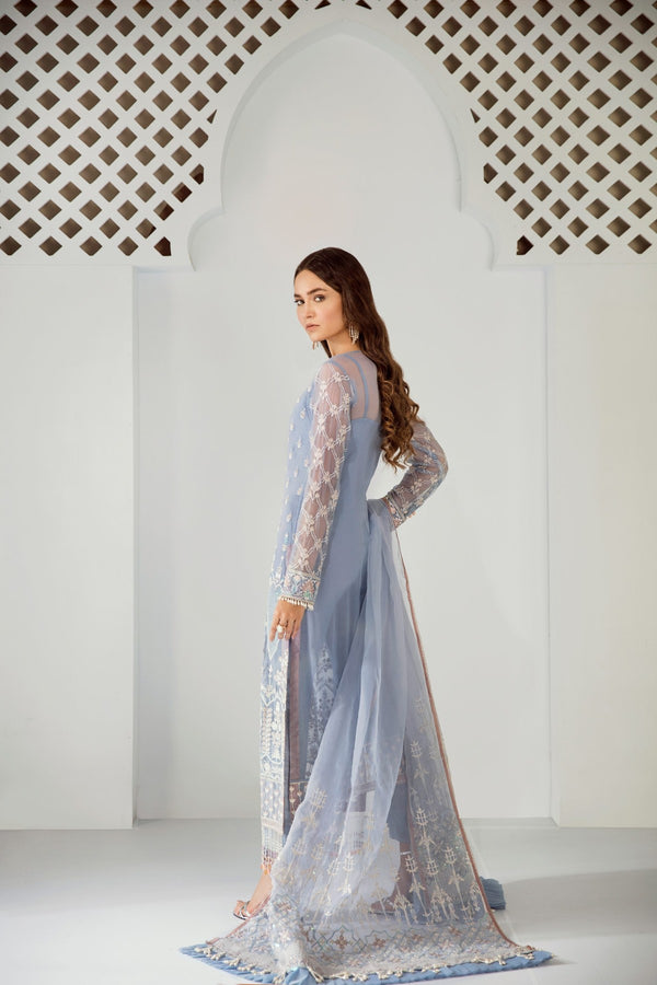 Chiffon Stitched Luxury Suit-3