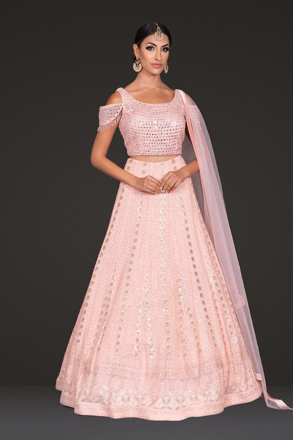 Peach Top Skirt lehenga