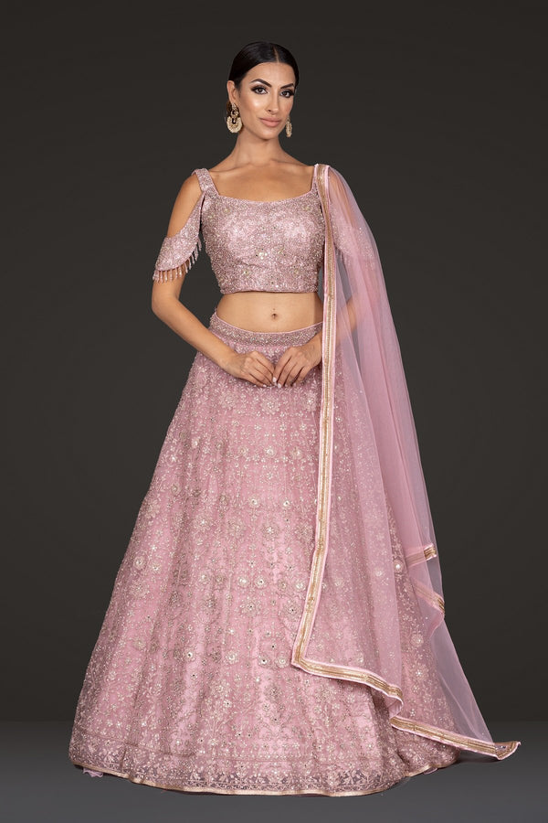 Onion Crop-top and Lehenga