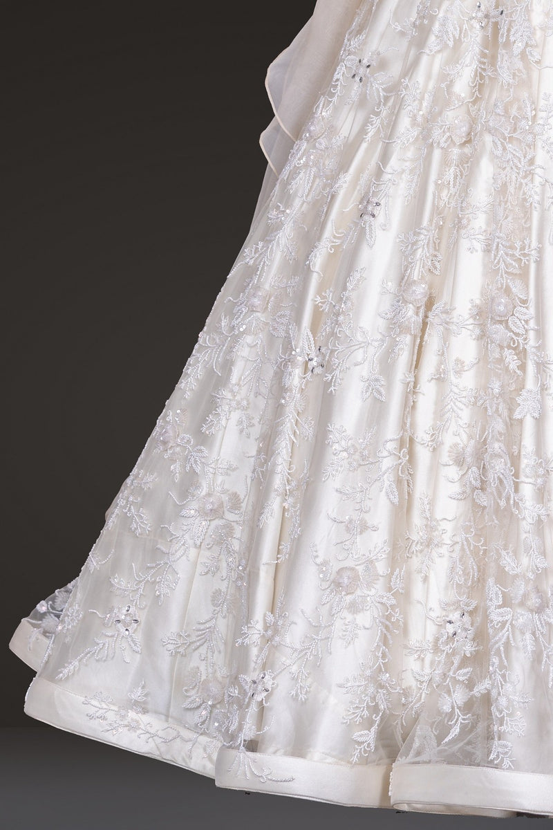 White Embroidered Gown
