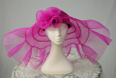 ASHRO LADIES FORMAL HAT - FUSCHIA PINK