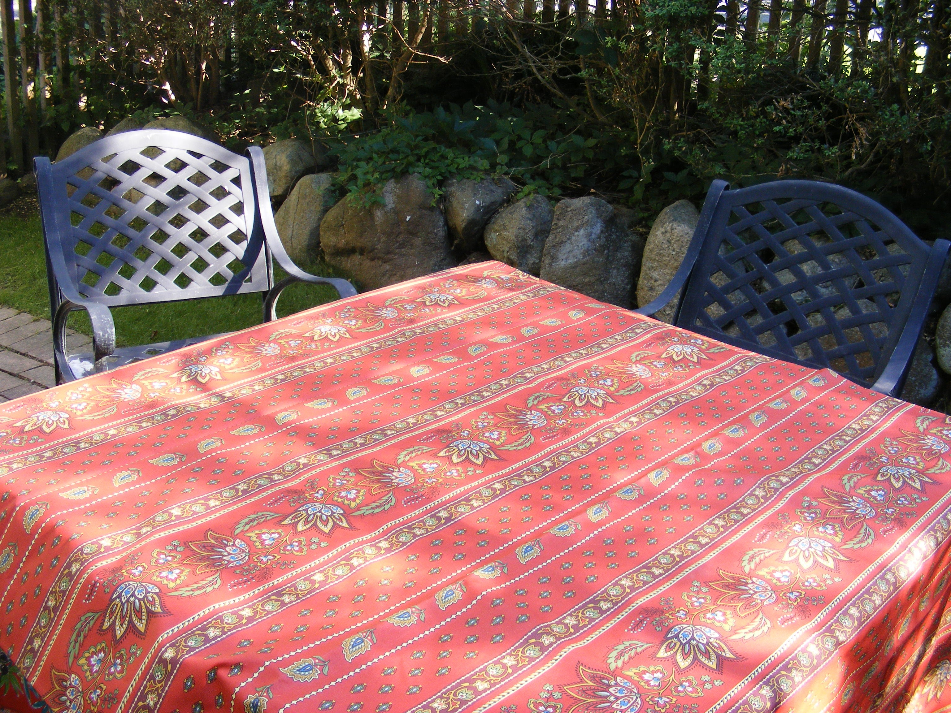 French Country Tablecloth in  Coated Cotton