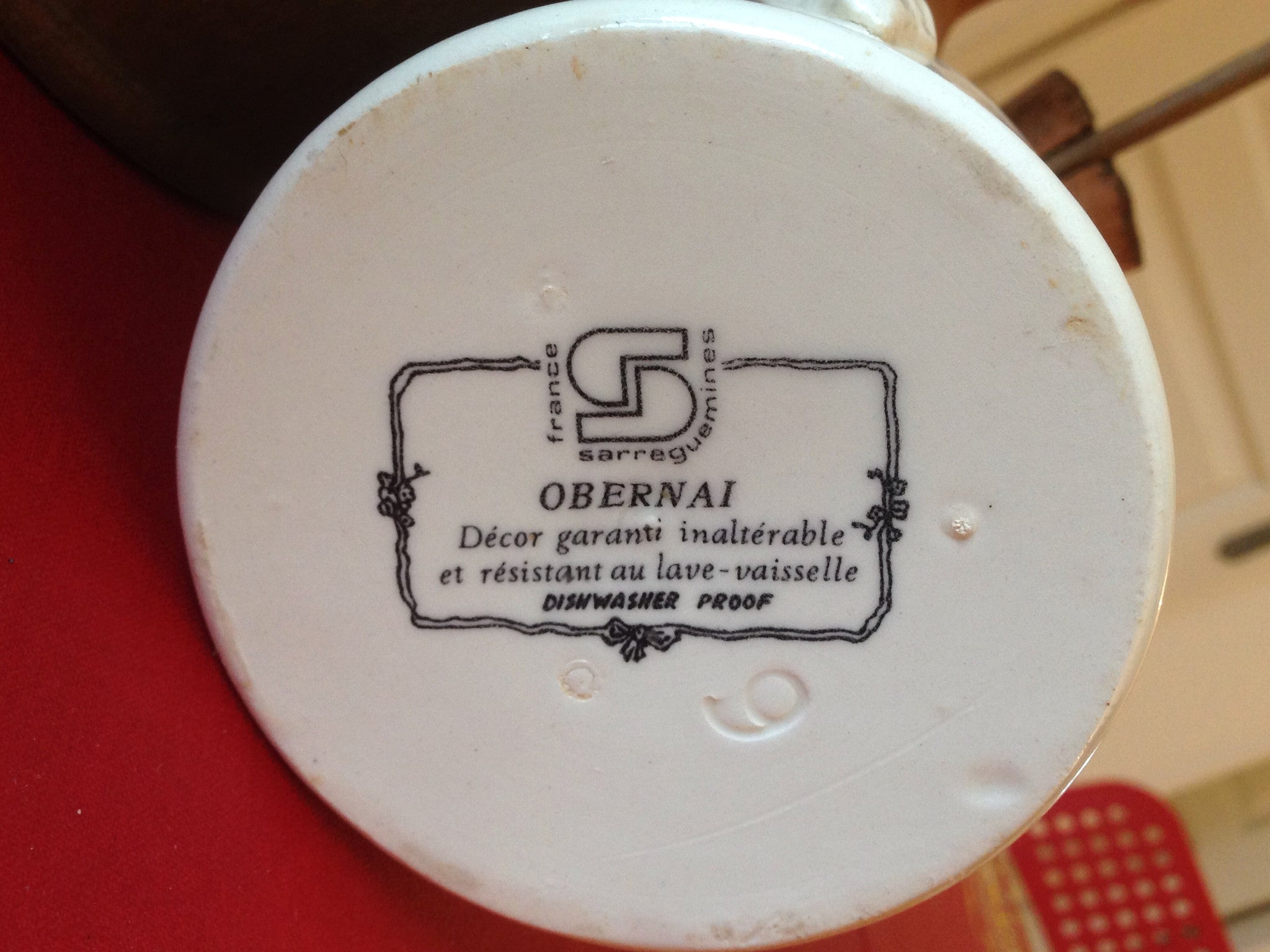 Obernai Cheese Crock, Sugar or Jam Bowl
