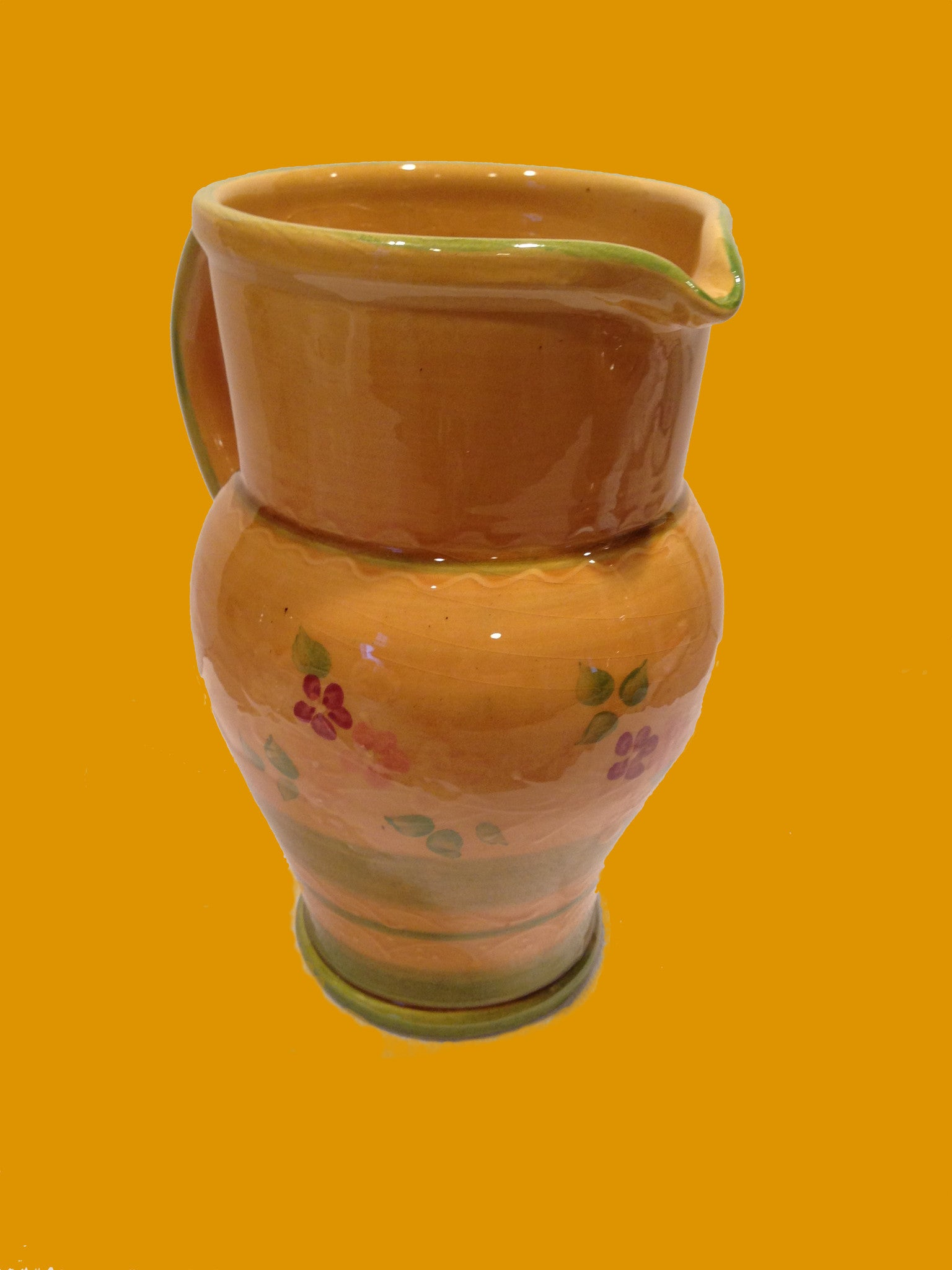 Souléo Provence Hand Painted  Pitcher