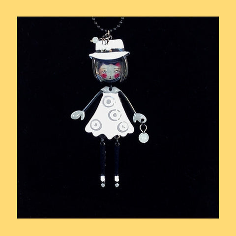 Les Pepettes Doll Face Necklace with Hat
