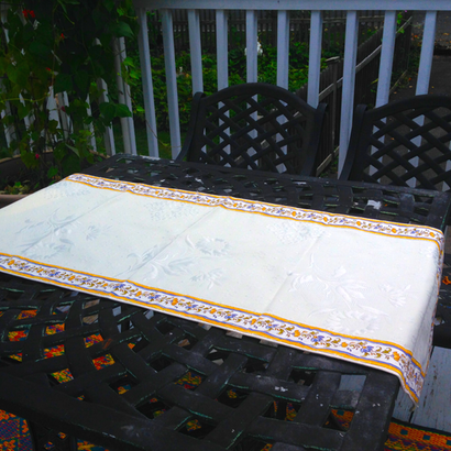 "Moustier Table Runner, 20"" x 60"""