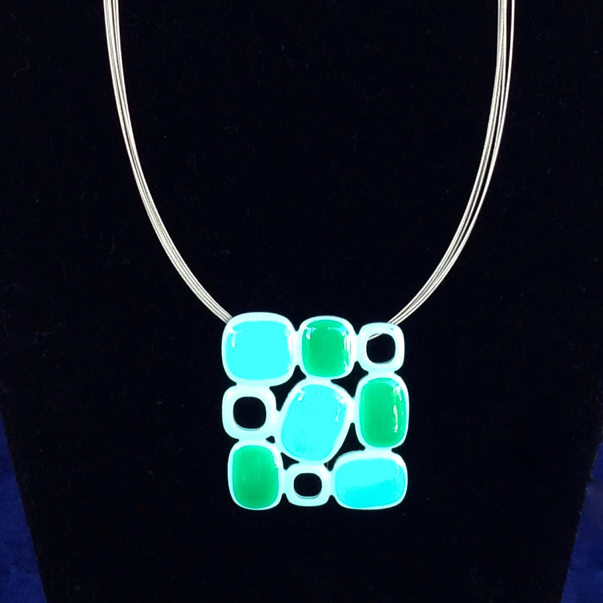 Aqua Squared Necklace