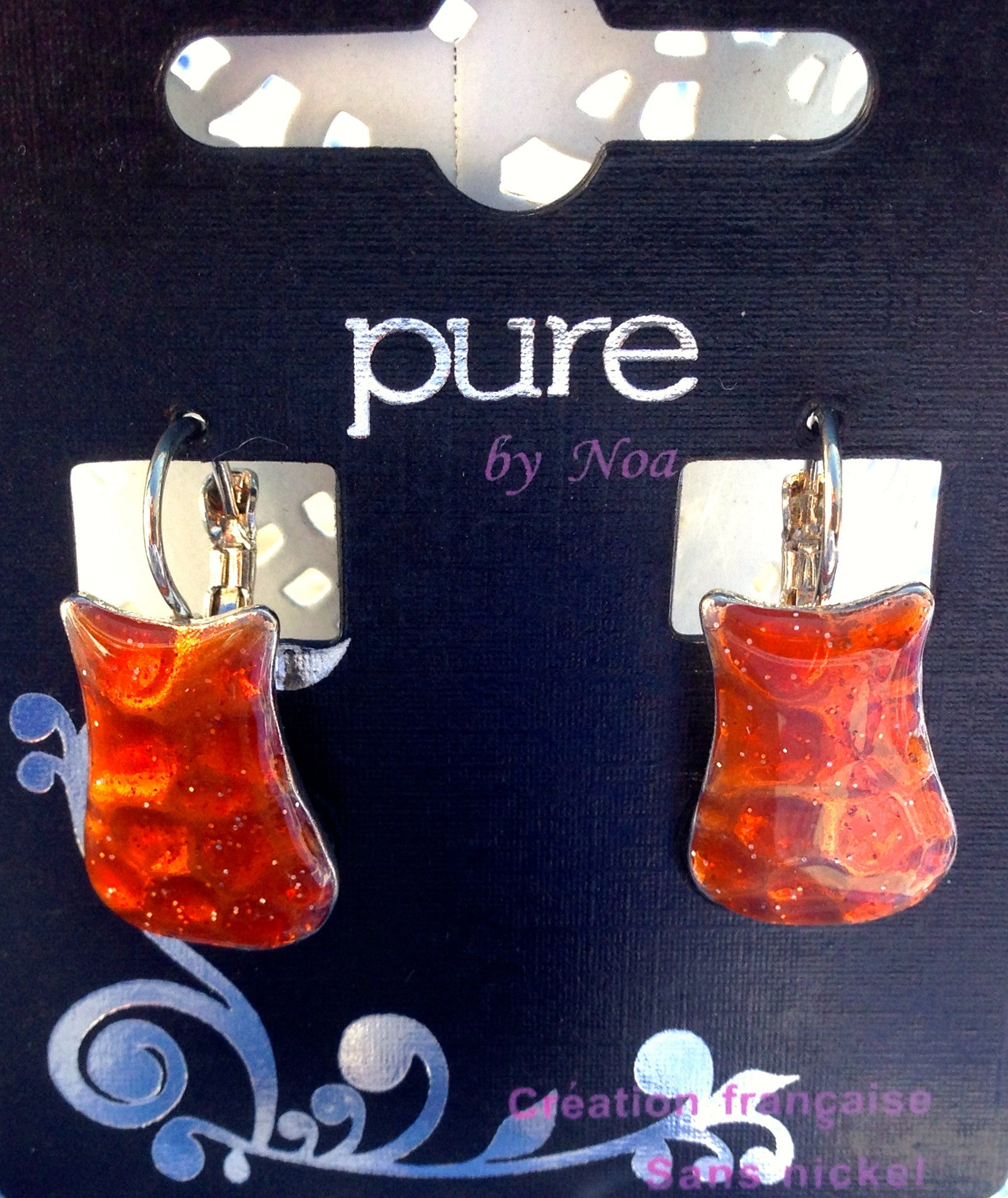 Enameled Earring by French Company Noa