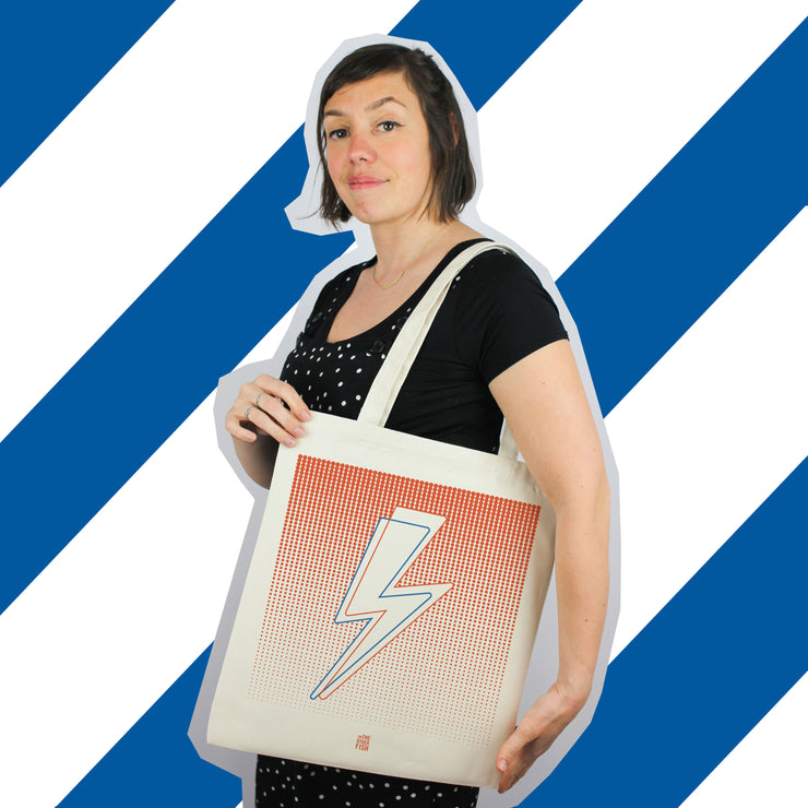 sac, tote bag, David bowie, eclair, Ziggy stardust