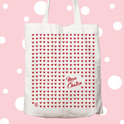 sac, tote, bag, tote bag, mariage, copine, amour, amoureux, amoureuse, coeur, chaton, rouge
