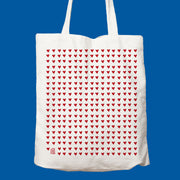 sac, tote bag, coeur, rouge, couleurs, amour