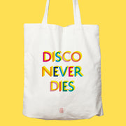 disco, sac, disco never dies, tote bag, couleur, danse, époque