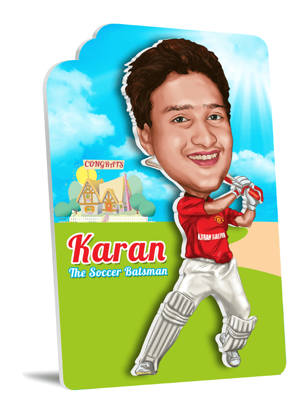 Birthday 3D He Cricketer Caricature