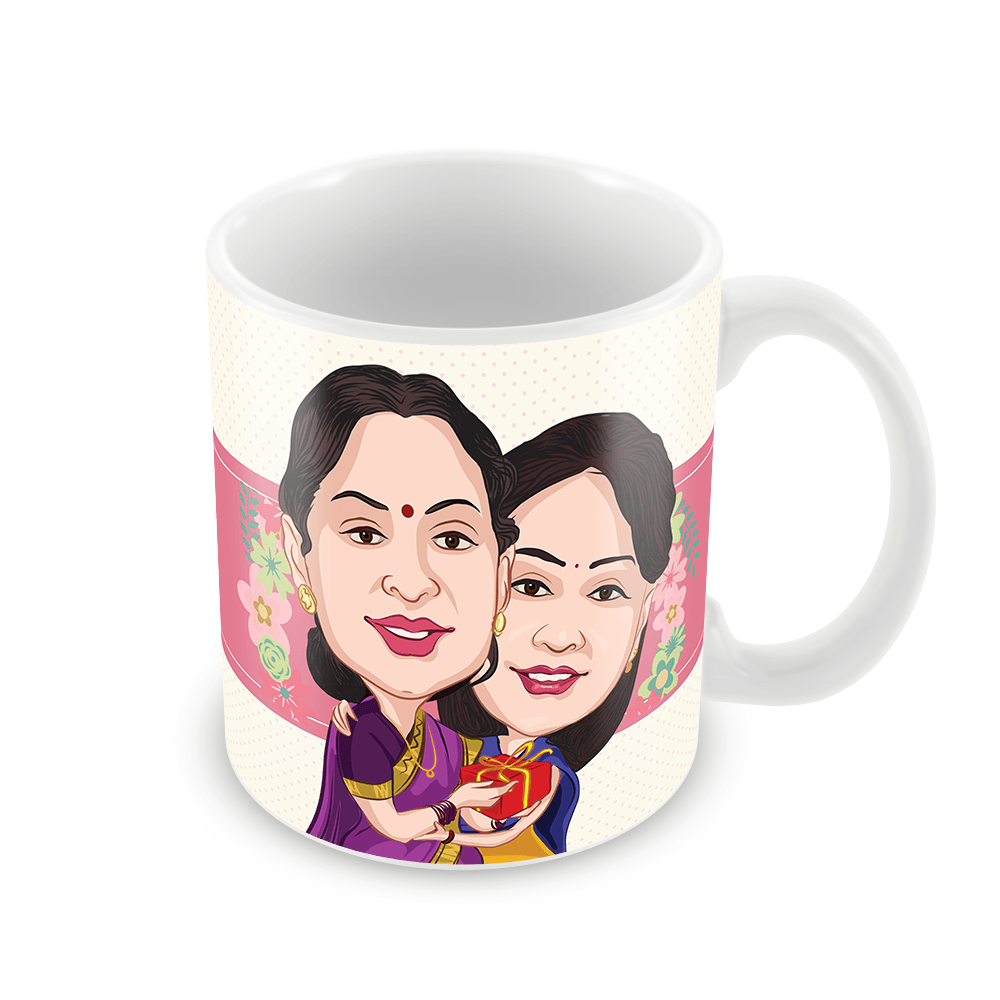 Hugs! Hugs! Hugs!  Personalized Caricature Gift for Mom