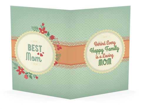 Happy Family, Personalized Mother's Day Greeting Card