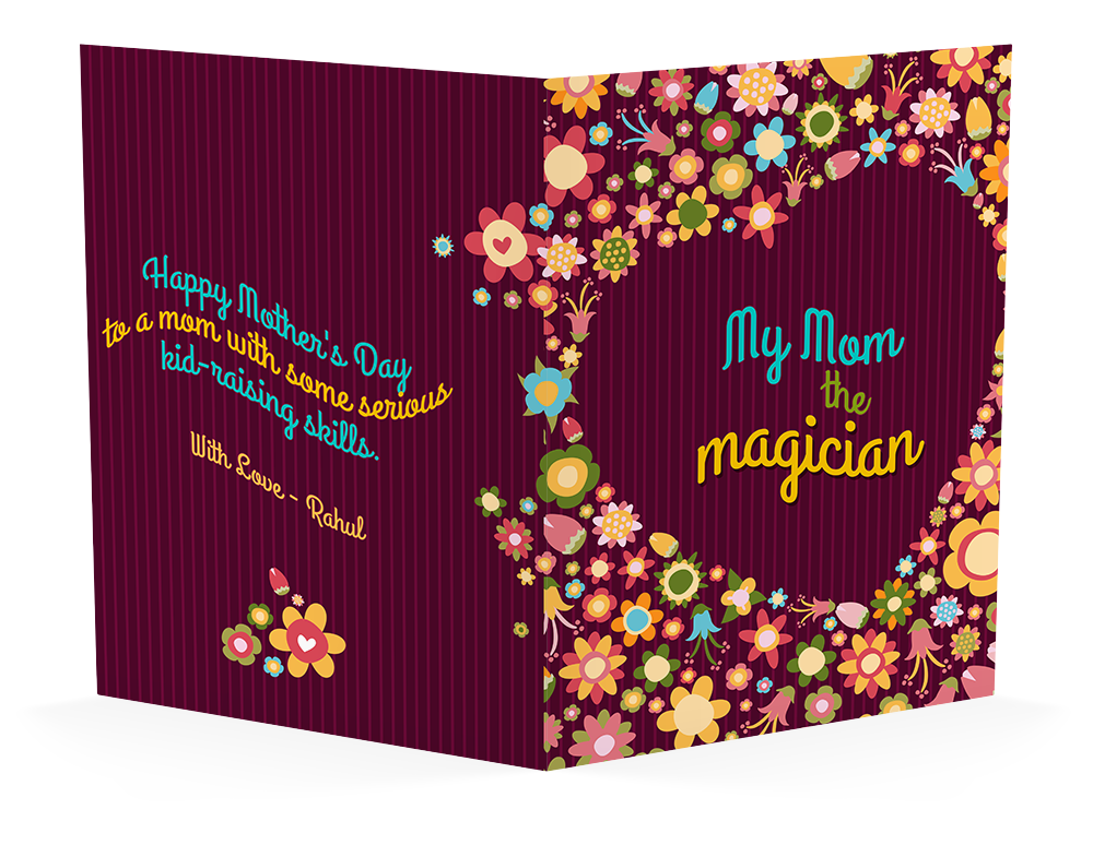 Magician Mom, Personalized Mother's Day Greeting Card
