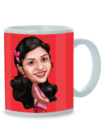 All That Makes You Special, Personalized Caricature Mug for her