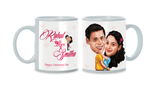 When My Heart Found You, Personalized Caricature Mug for couple