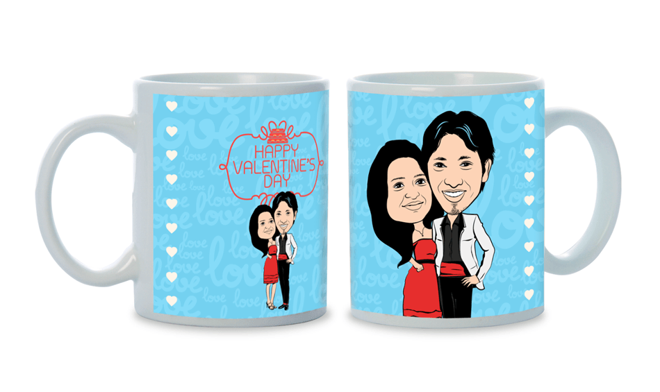 You know the real me, personalized caricature Mug for couple