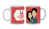 Happy Love Day, Personalized Caricature Mug for couple