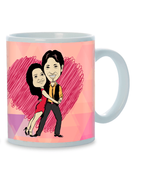 Nothing So Right As Us, Personalized Caricature Mug