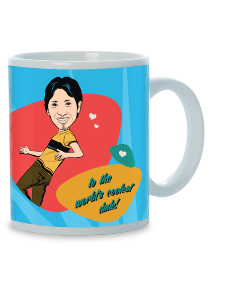 You Are My Bud, Personalized Caricature Mug for him