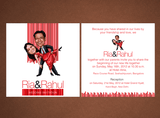 Fanciful Love Personalized Caricature Wedding Card