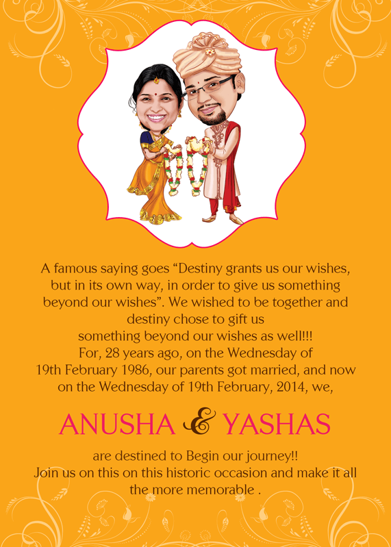Wedding Gift For Best Friend India : we the wed personalized caricature wedding card your wedding ...