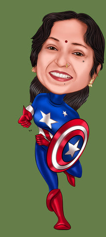 Captain America Caricature