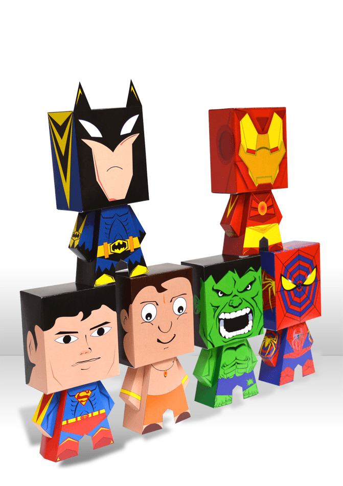 Earth's mightiest Heroes in Foldable Miniature Collectables