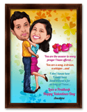 Valentine's Day Couple Gorgeous caricature