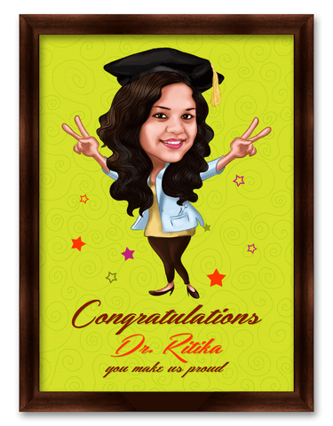Congratulations, you make us proud Framed Caricature
