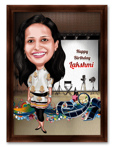 Happy Birthday Director, Personalized Caricature Gift for Celebrations