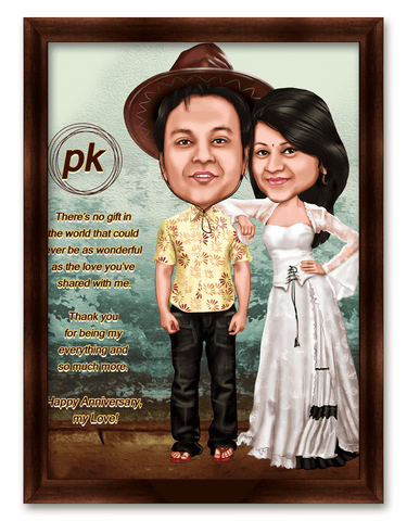 PK Movie Style Caricature Gift for Couple