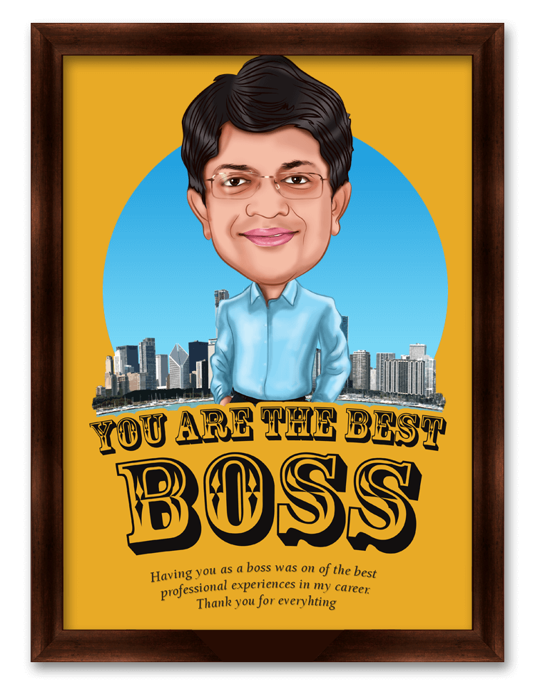 You are the best Boss, Personalized Caricature Gift for Boss, Friend