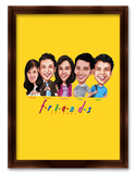 Friendship Day Five Friends Mini Caricature Gift