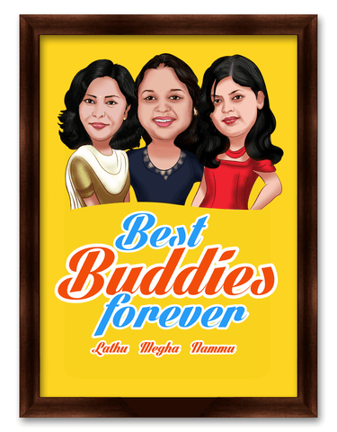 Friendship Day Best Buddies Mini Caricature Gift