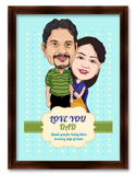 Dad and Daughter Fathers Day Caricature Gift