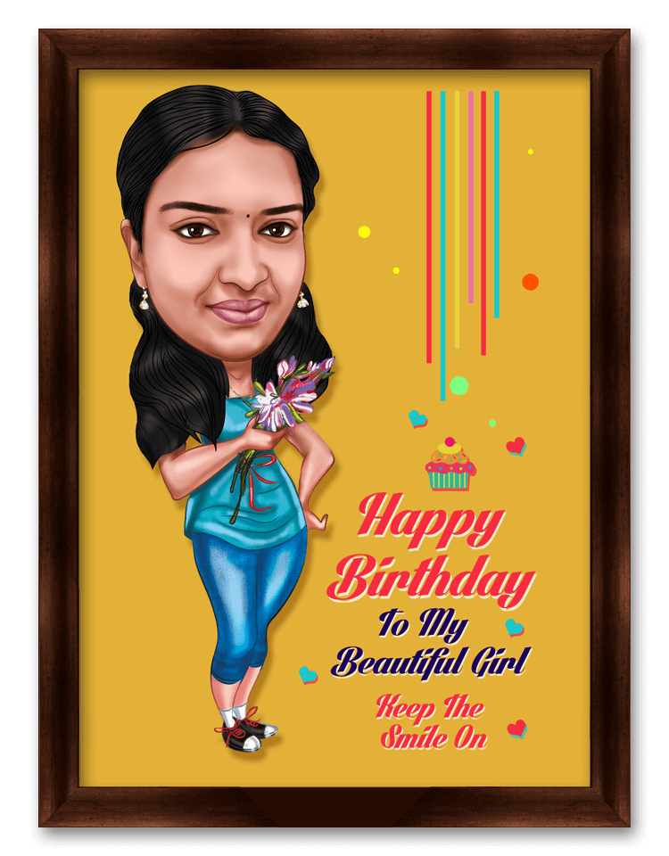 My Beautiful Girl Birthday Caricature Gift