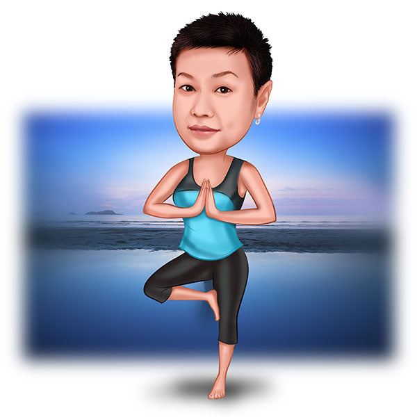 To My favorite Yoga Enthusiast Personalized Caricature Gift