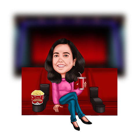 To My favorite MovieBuff Personalized Caricature Gift