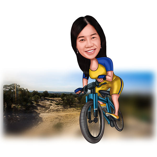 To My favorite Cycle enthusiast Personalized Caricature Gift